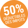 logo 50ù déductible impot